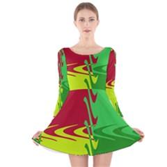 Wavy Shapes                                                         Long Sleeve Velvet Skater Dress