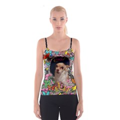 Chi Chi In Butterflies, Chihuahua Dog In Cute Hat Spaghetti Strap Top