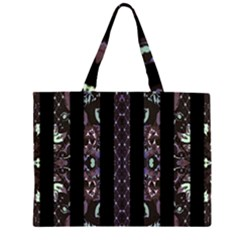 Oriental Floral Stripes Large Tote Bag