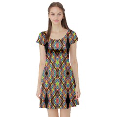 Help One One Two Short Sleeve Skater Dress