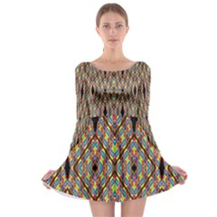 Help One One Two Long Sleeve Skater Dress