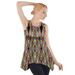 Help One One Two Side Drop Tank Tunic
