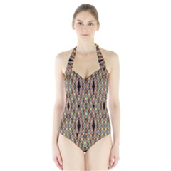 Help One One Two Women s Halter One Piece Swimsuit