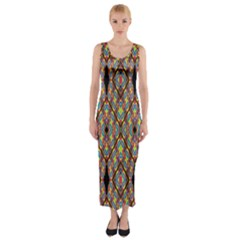 Help One One Two Fitted Maxi Dress