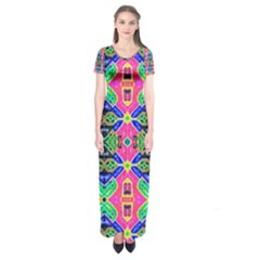 PRIVATE PERSONALS Short Sleeve Maxi Dress