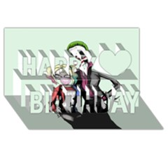 Suicide Nightmare Squad Happy Birthday 3D Greeting Card (8x4)