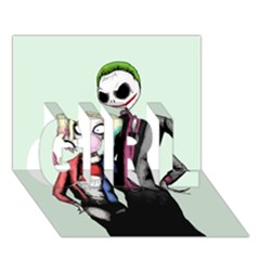 Suicide Nightmare Squad GIRL 3D Greeting Card (7x5)