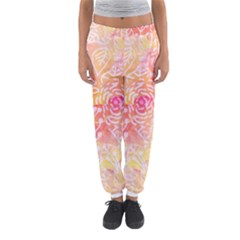 Sunny floral watercolor Women s Jogger Sweatpants