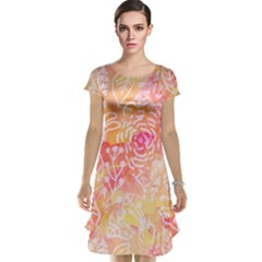 Sunny floral watercolor Cap Sleeve Nightdress