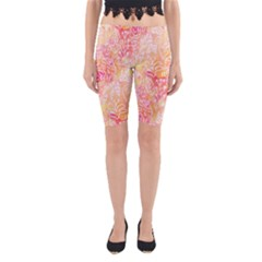 Sunny floral watercolor Yoga Cropped Leggings