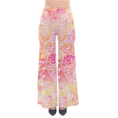 Sunny floral watercolor Pants
