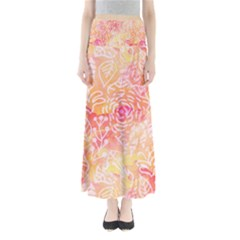 Sunny floral watercolor Maxi Skirts