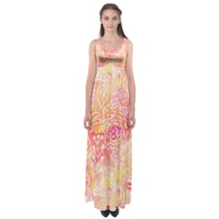 Sunny floral watercolor Empire Waist Maxi Dress