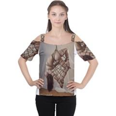 Shibari King of Diamonds Women s Cutout Shoulder Tee