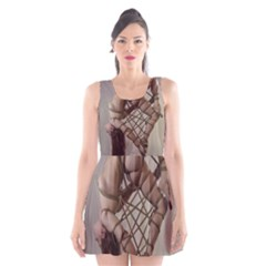 Shibari King of Diamonds Scoop Neck Skater Dress