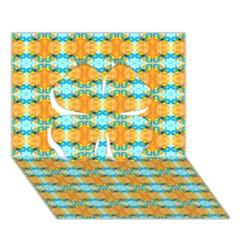 Dragonflies Summer Pattern Clover 3D Greeting Card (7x5)