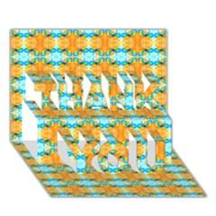 Dragonflies Summer Pattern THANK YOU 3D Greeting Card (7x5)