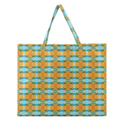 Dragonflies Summer Pattern Zipper Large Tote Bag