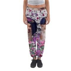 Chi Chi In Flowers, Chihuahua Puppy In Cute Hat Women s Jogger Sweatpants