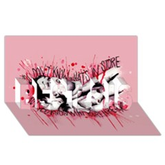 High For This BEST SIS 3D Greeting Card (8x4)