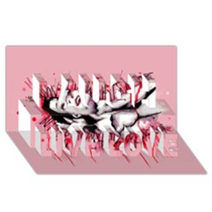 High For This Laugh Live Love 3D Greeting Card (8x4)