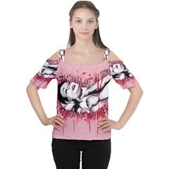 High For This Women s Cutout Shoulder Tee