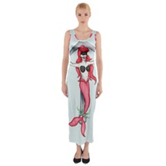 Bad Mermaid Fitted Maxi Dress