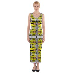 Vaccine Fitted Maxi Dress