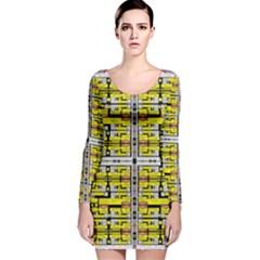 VACCINE Long Sleeve Velvet Bodycon Dress