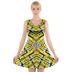 SELECT ACCINE V-Neck Sleeveless Skater Dress