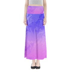 Ombre Purple Pink Maxi Skirts