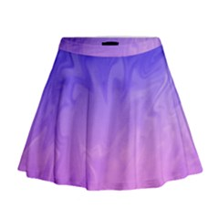 Ombre Purple Pink Mini Flare Skirt