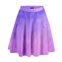 Ombre Purple Pink High Waist Skirt