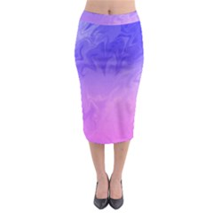 Ombre Purple Pink Midi Pencil Skirt