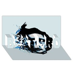 Edgar Allan Poe Crows BEST BRO 3D Greeting Card (8x4)