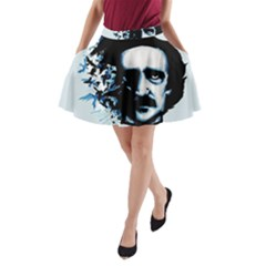 Edgar Allan Poe Crows A-Line Pocket Skirt