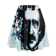 Edgar Allan Poe Crows High Waist Skirt