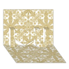 Golden Floral Boho Chic I Love You 3D Greeting Card (7x5)