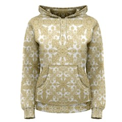 Golden Floral Boho Chic Women s Pullover Hoodie