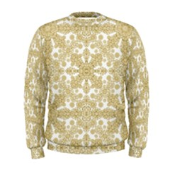 Golden Floral Boho Chic Men s Sweatshirt