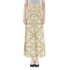Golden Floral Boho Chic Maxi Skirts