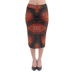 VELVEL Midi Pencil Skirt