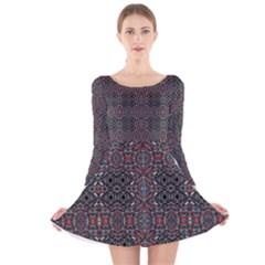 Windoor Long Sleeve Velvet Skater Dress