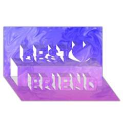 Ombre Purple Pink Best Friends 3D Greeting Card (8x4)