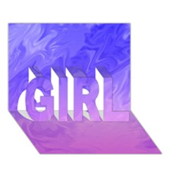 Ombre Purple Pink GIRL 3D Greeting Card (7x5)