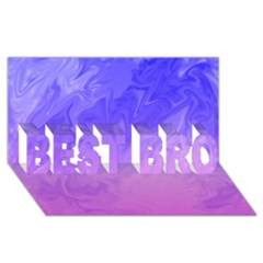 Ombre Purple Pink BEST BRO 3D Greeting Card (8x4)