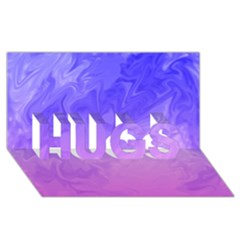 Ombre Purple Pink HUGS 3D Greeting Card (8x4)