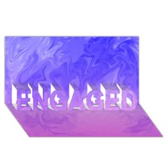 Ombre Purple Pink ENGAGED 3D Greeting Card (8x4)