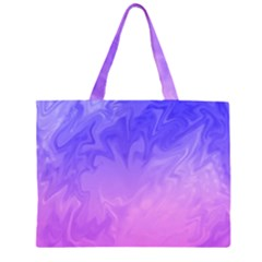 Ombre Purple Pink Large Tote Bag