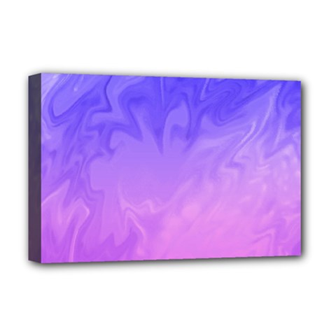 Ombre Purple Pink Deluxe Canvas 18  x 12